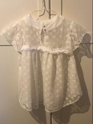 全新 sly moussy 白色 高貴 蕾絲 上衣 top