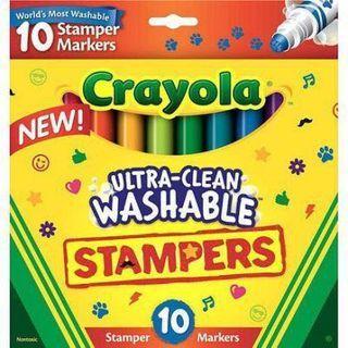🚚 美國繪兒樂10色圖案可水洗印章彩色筆