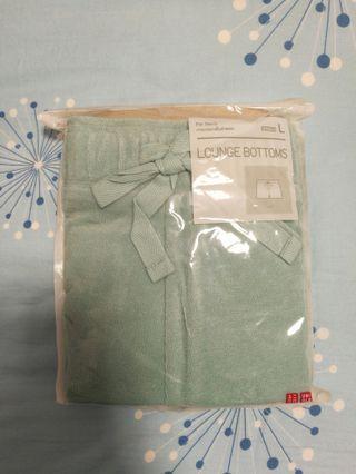 Uniqlo lounge bottoms pile shorts light blue