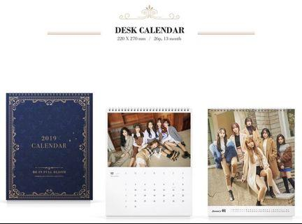 WTB GFRIEND 2019 Season Greetings Desk Calendar