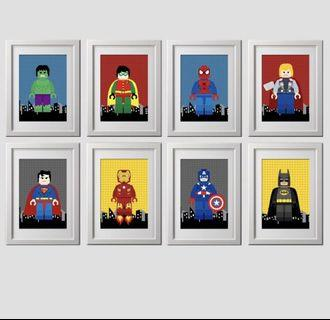 SUPERHERO CANVAS ART PRINTS AND POSTERS