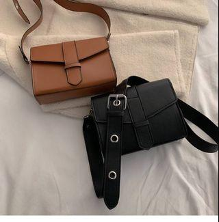 Ulzzang Faux Leather Crossbody Sling Bag