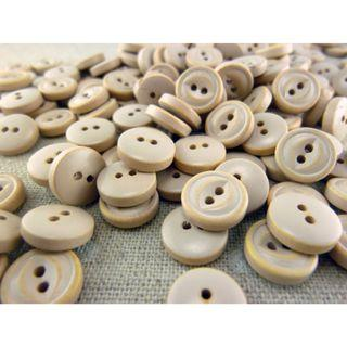 WB12001 - 10mm mini monkey eye wood button, wooden buttons (10 pieces)  #craft