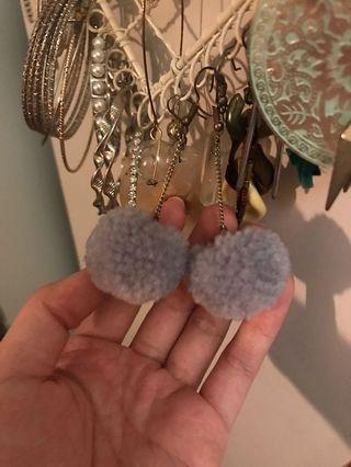 Flurry ball ball earrings