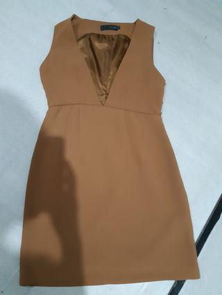 Dress Coklat  LD 35 Cm