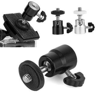 "360° 1/4"" Screw Mount Rotation Mini Ball Head (Black)"