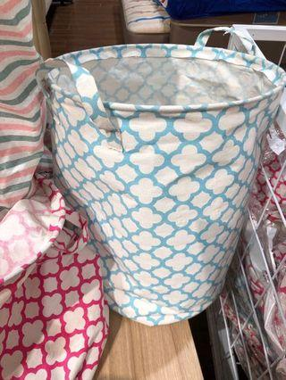 Blue Laundry Bag / Keranjang Baju Motif Biru