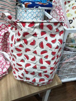 Watermelon Laundry Bag / Keranjang Baju Motif Semangka