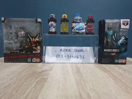 Candy Bottle, Dx Dragon Sclash Jelly, Shf Kamen Rider 3 and Shf Kamen Rider Chalice