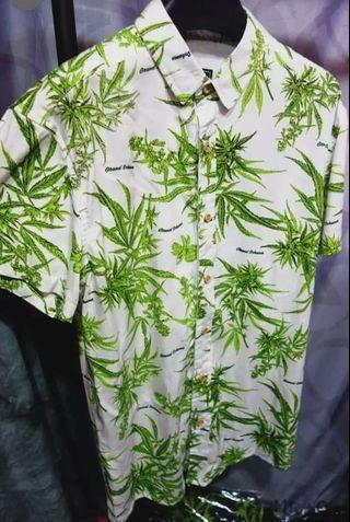 🚚 歐美 大麻葉 短袖 襯衫 嘻哈 饒舌 尺寸S~XXL