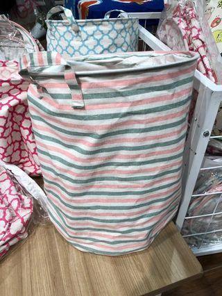 Stripes Laundry Bag / Keranjang Baju Motif Garis Garis