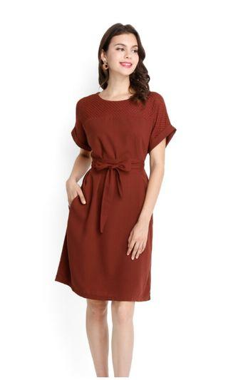BN Lilypirates Dress classy closet dress in rust colour