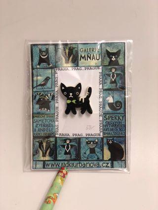 Cat button 貓紐扣 木制