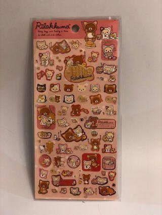 貼紙 sticker 鬆弛熊 rilakkuma 扮貓