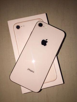 IPHONE 8 64GB GOLD SECOND MULUS LIKE NEW