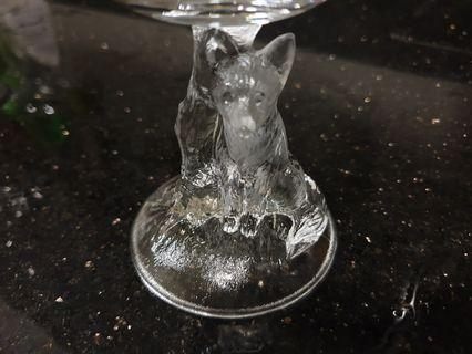 Fox super whisky nikka glass cup