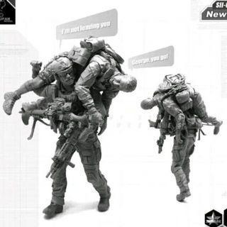 """Navy Seal Figures 1/35 Scale Special Ops Evacuation  """"Brothers In Arms"""" 2 Figures Brand New Available Now"""