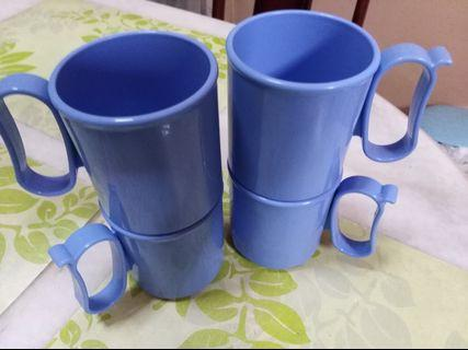 Tupperware cup with handle (4pcs)