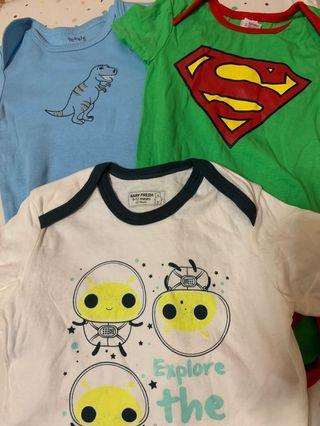 FLASH SALE, 3 sets of Baby Boy Romper *Brand New*