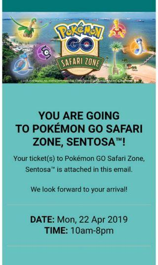 Pokemon Go Safari Ticket 22 April