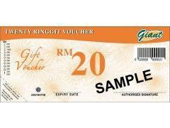 Giant Vouchers 10% OFF! RM500 at RM450