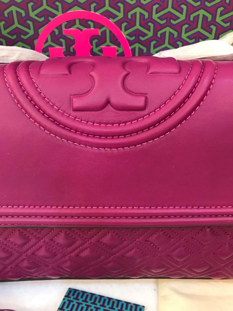 Authentic Tory Burch Fleming convertibles sling bag crossbody bag totes dinner clutch