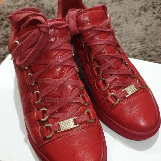 Balenciaga low arena red sneakers