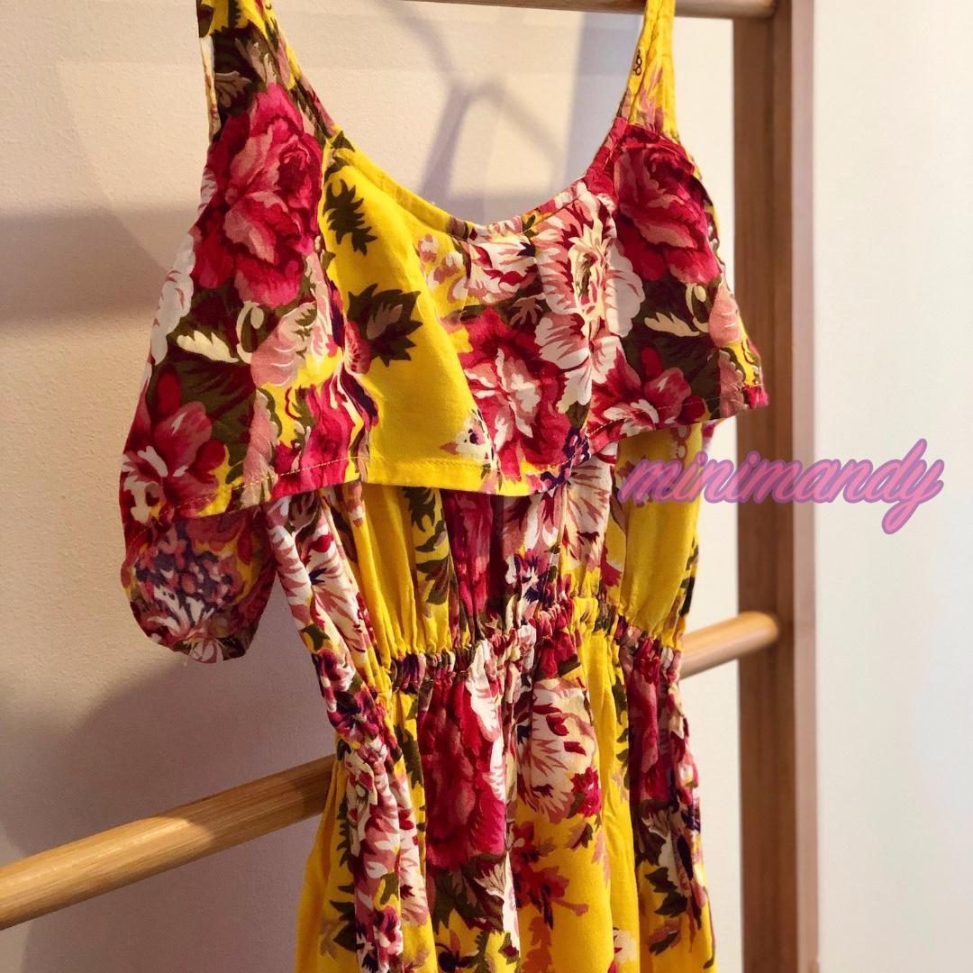 Bali yellow floral ruffle maxi dress frill beach summer flowers #SundayMarket