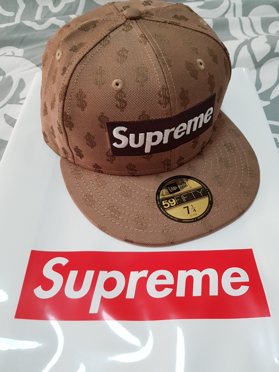 46520c2a BN Supreme Brown Monogram Box Logo New Era cap 7 1/4 @$170, Men's ...