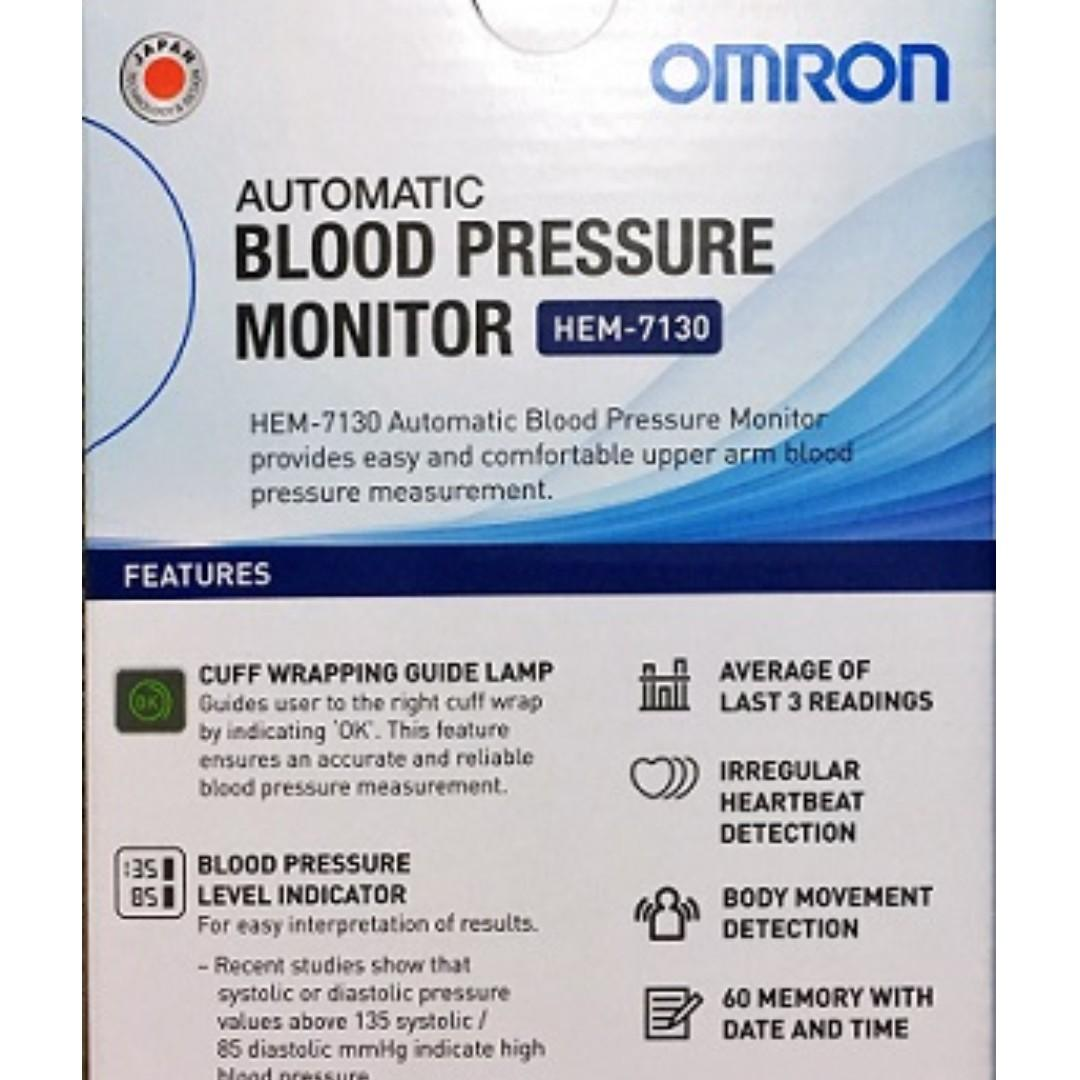 Brand New!!!!! Automatic Omron A BP Monitor - HEM 7130 - 60 Memories with Date and Time !!!