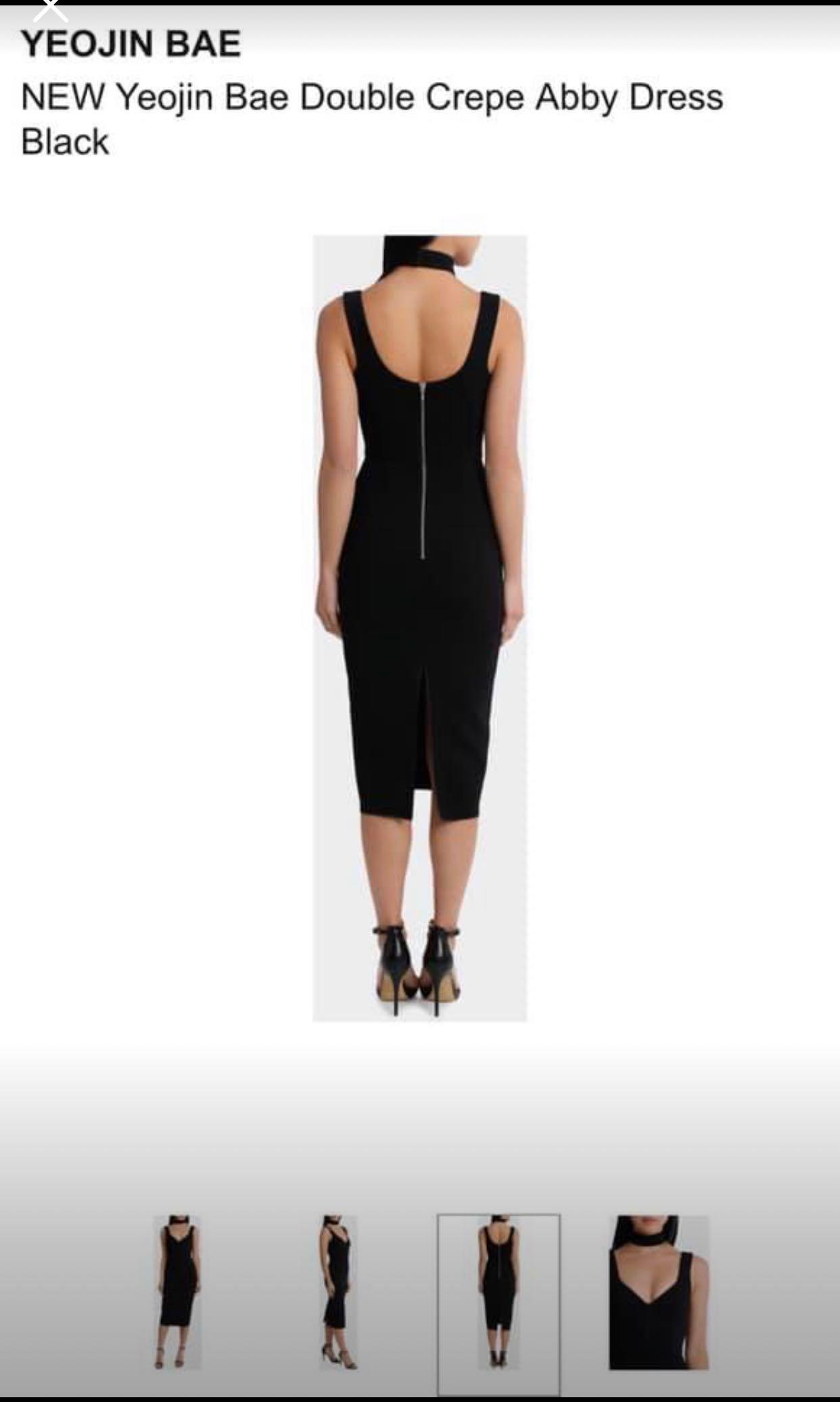 BRAND NEW Yeojin Bae Double Crepe Abby Dress in Black RRP$675