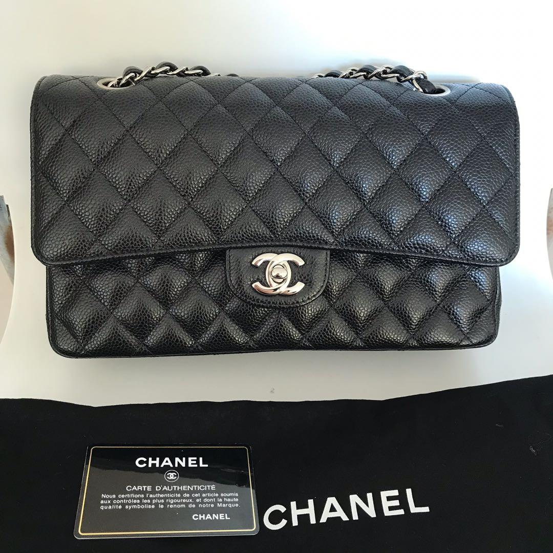 f4f183b9dd7f2 Chanel Classic Flap Medium Black Caviar