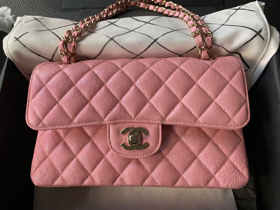 e11bcf5d8188 Chanel iridescent 19s pink SMALL flap *Super rare*, Luxury, Bags ...