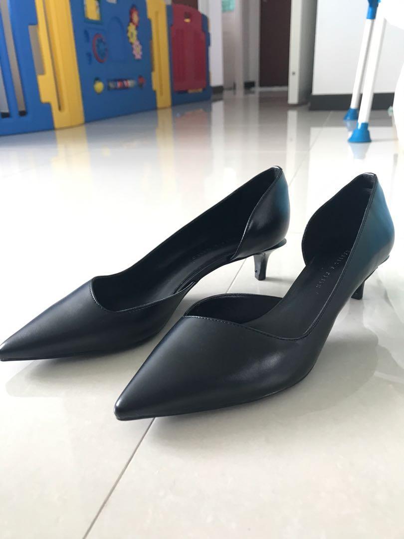Charles & Keith short heels black