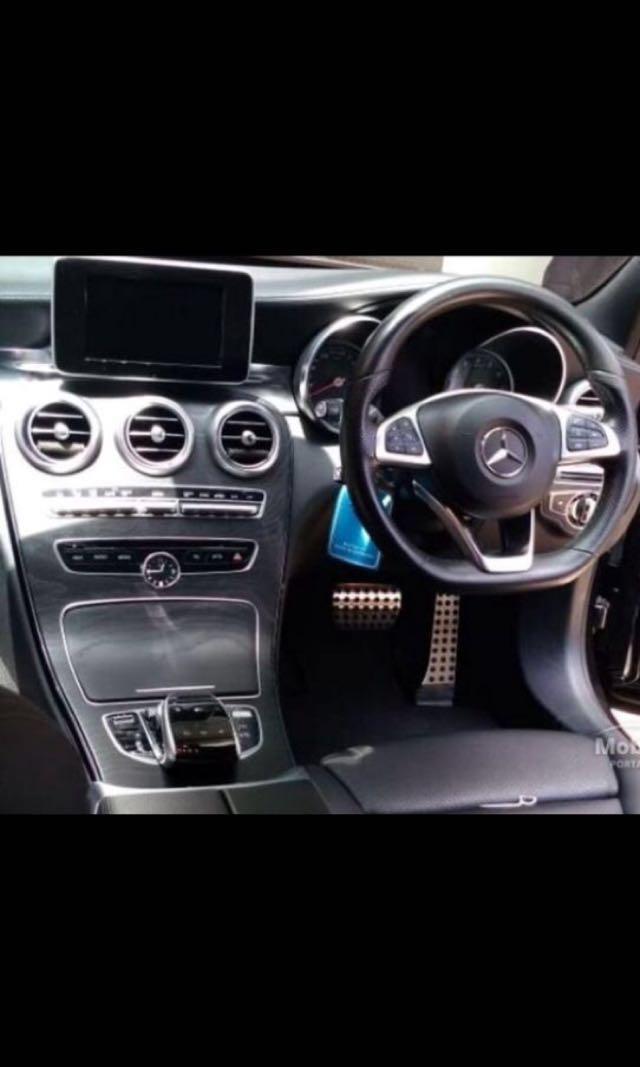 Di jual Mercy C250 Amg w hitam th 2014 kondisi full Original harga nego