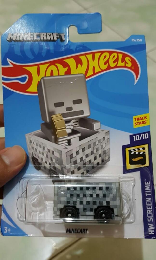 Diecast hot wheels mine craft