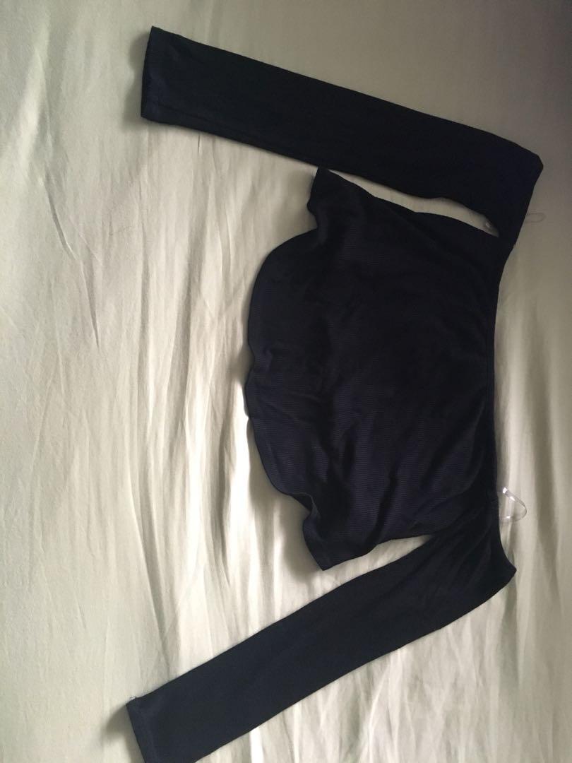 Fashion Nova Black Off-Shoulder Top