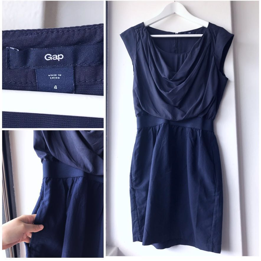 b2ad58ae4 GAP navy dress, Women's Fashion, Clothes, Dresses & Skirts on Carousell