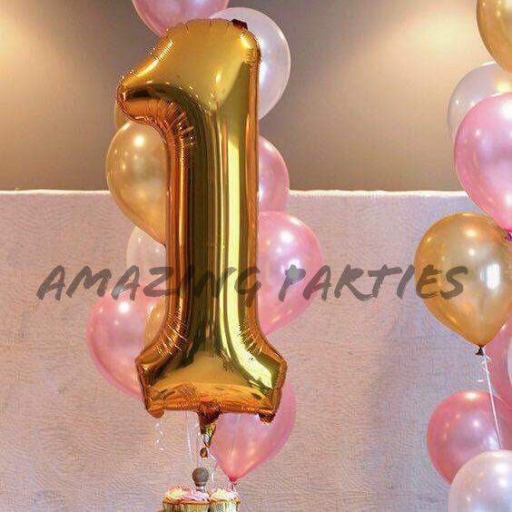 Giant 40 inch/ 1 m Shiny Gold Number Foil Party Decoration Balloon #MRTCCK #MRTWoodlands #MRTJurongEast