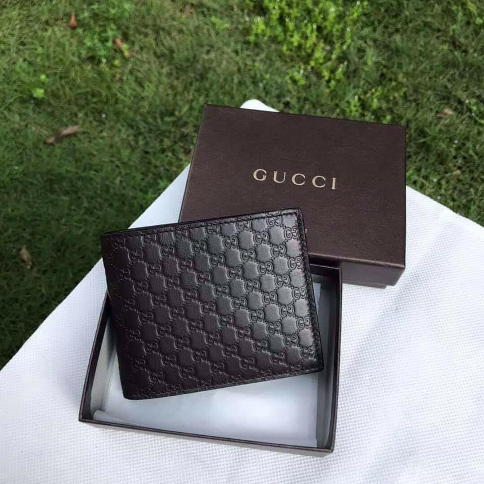 2801c63f9f75 Gucci 260987 Micro Guccissima bi-fold wallet ~ Dark Brown, Men's ...