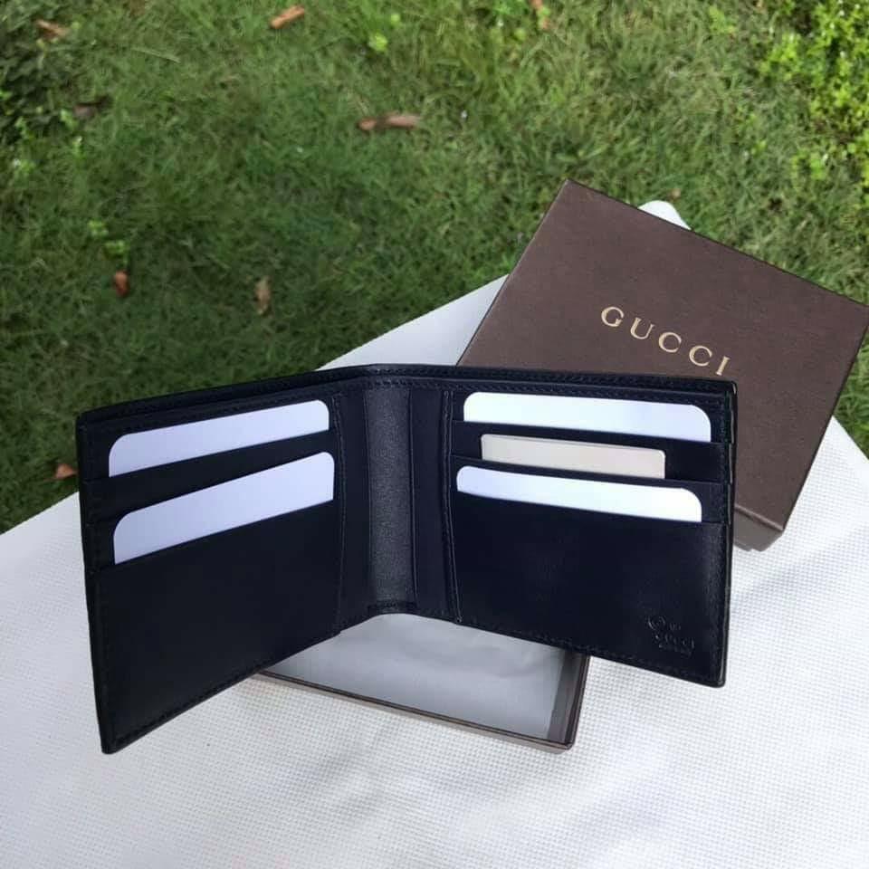 eb74121287f2 Gucci 260987 Micro Guccissima bi-fold wallet ~ Nav, Men's Fashion ...