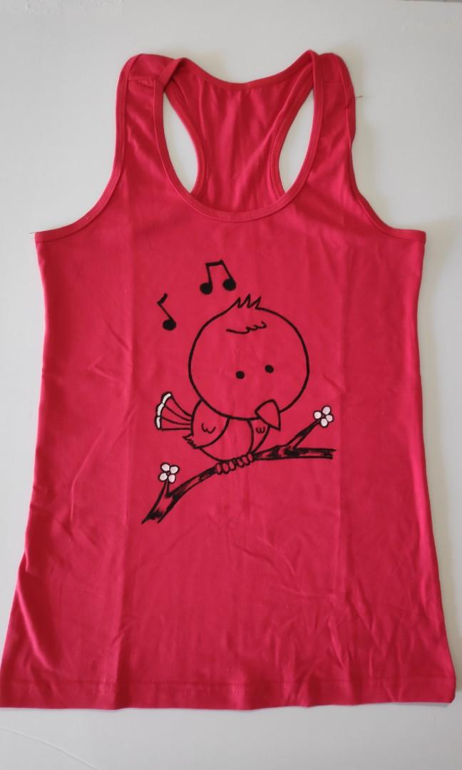 Hand Painted Tank Top Endgameyourexcess T Shirt One Of A Kind Design Women S Fashion Clothes Tops On Carousell