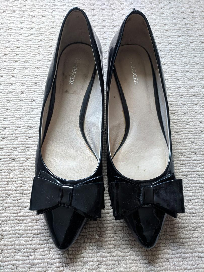 Jo Mercer • black • patent leather • kitten heels