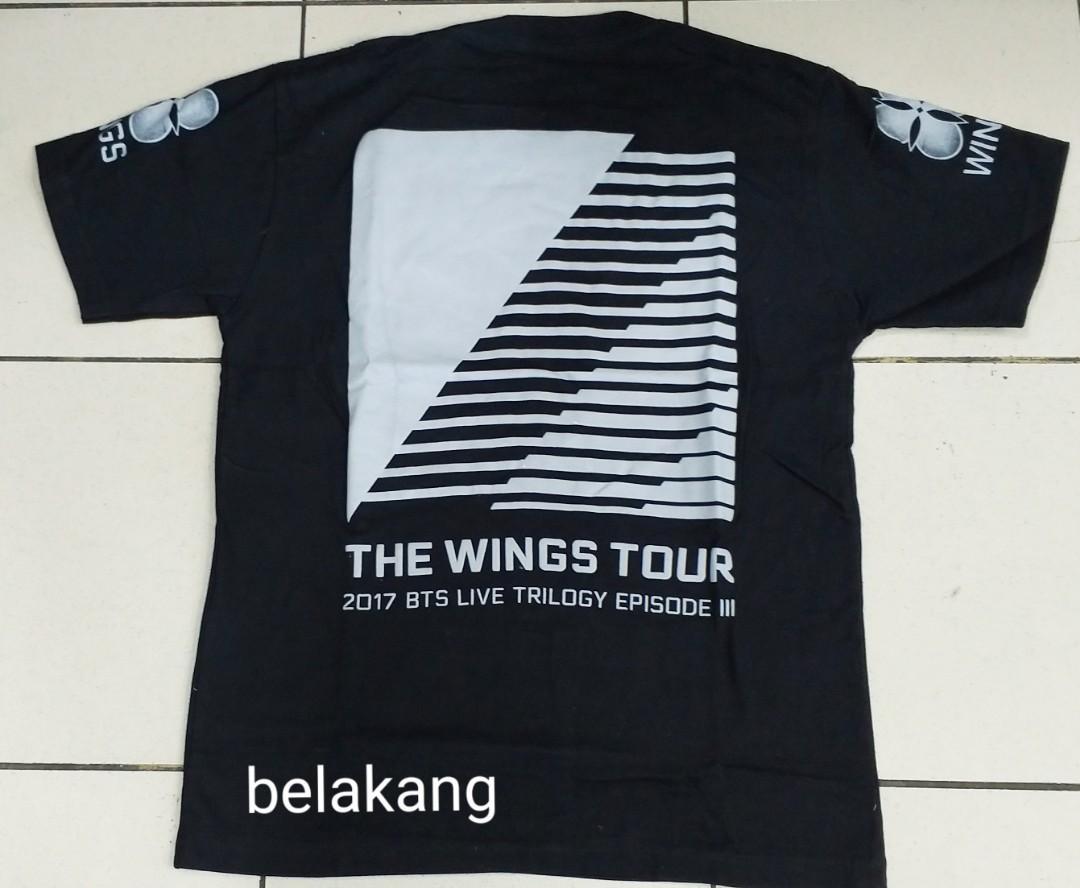 Kaos Lengan Pendek KPOP Bangtan Boys - BTS 'The Wings Tour'