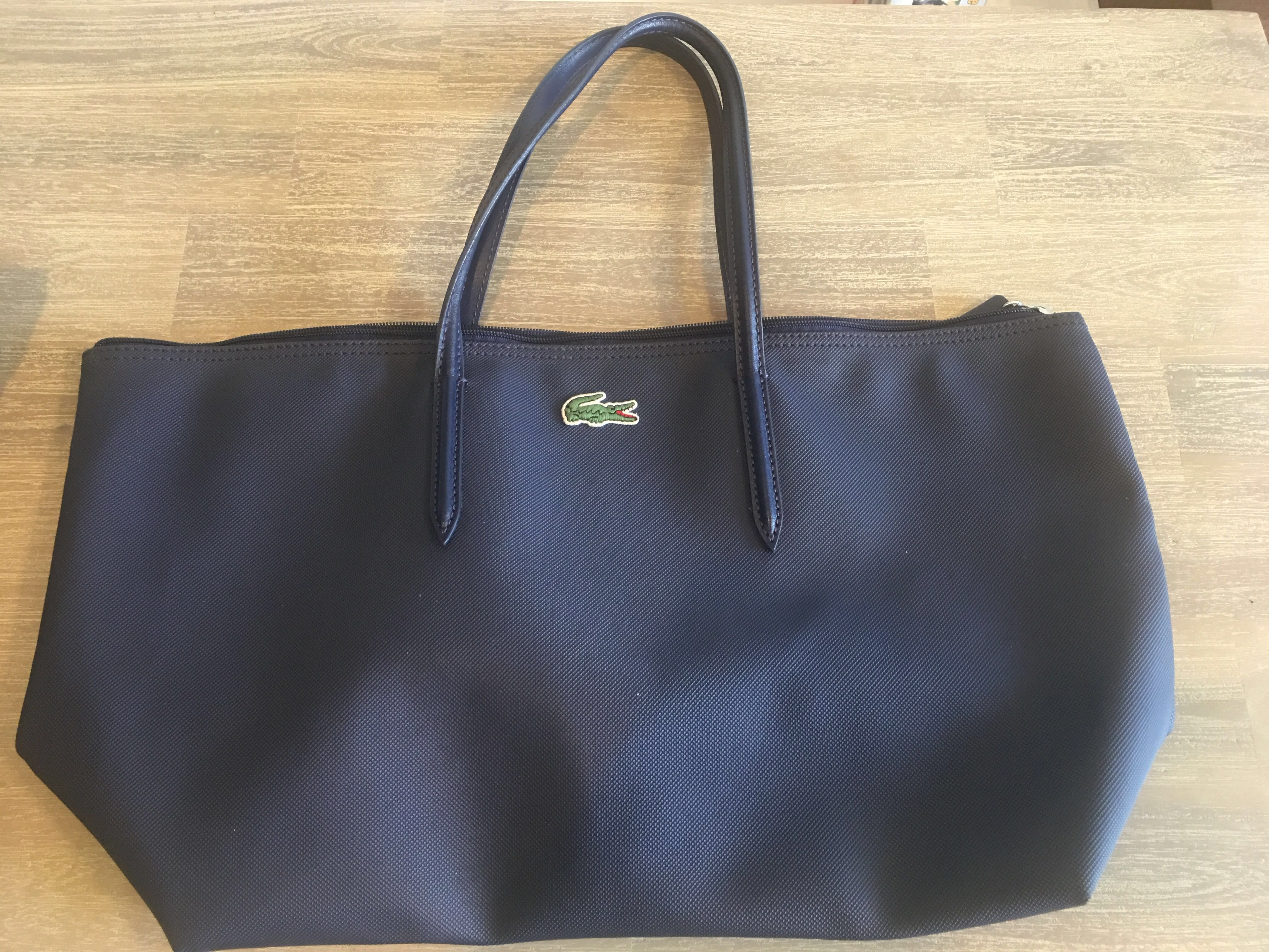 027879ae1b LACOSTE Tote Bag Navy, Women's Fashion, Bags & Wallets, Sling Bags ...