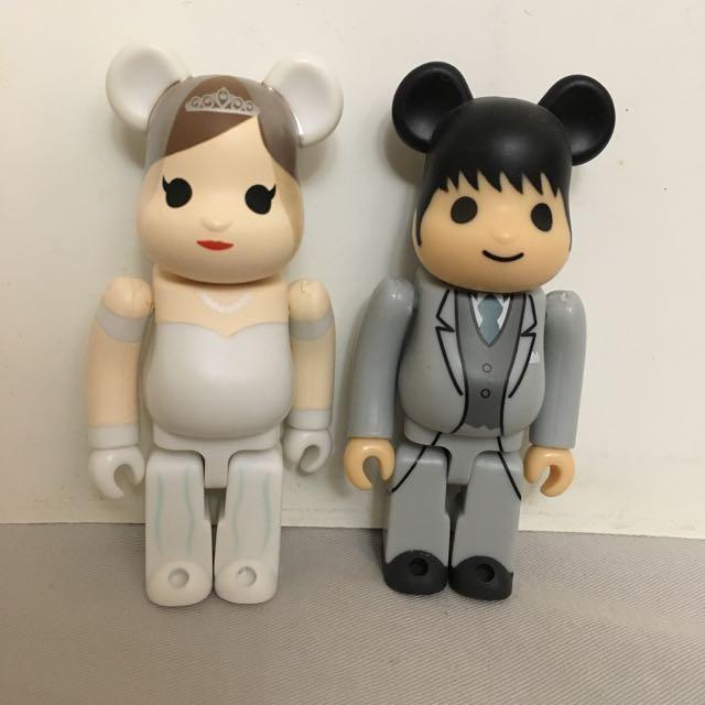 Medicom Be@rbrick 2013 Wedding 100/% Marriage Groom /& Bride Bearbrick set 2pcs