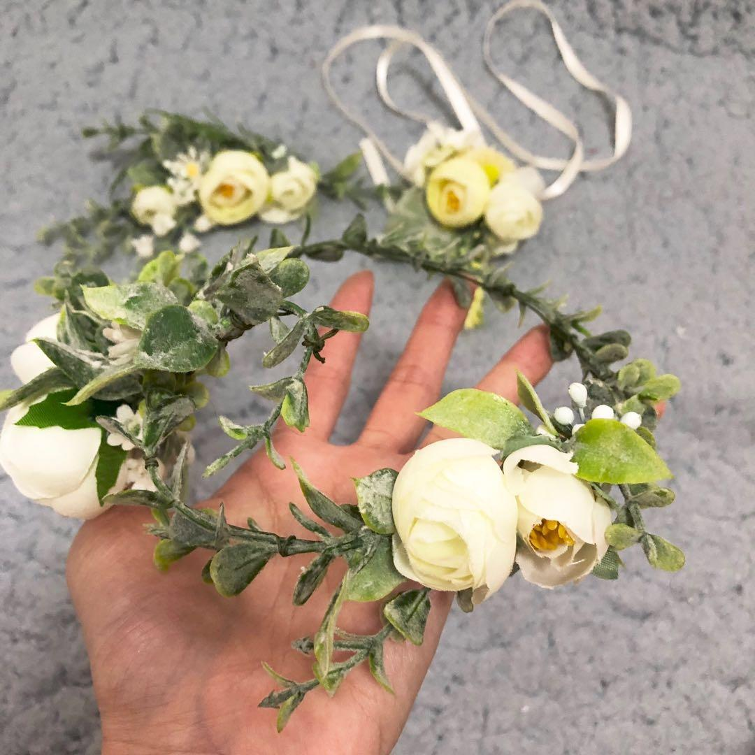 New Floral hairband or corsage wedding