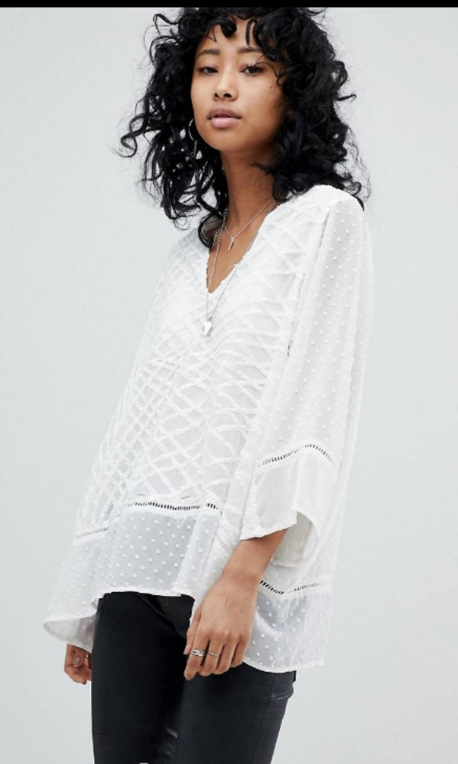 70d2fad32f0b78 NEW Religion from Asos White Sequin Top size uk10 small medium s ...