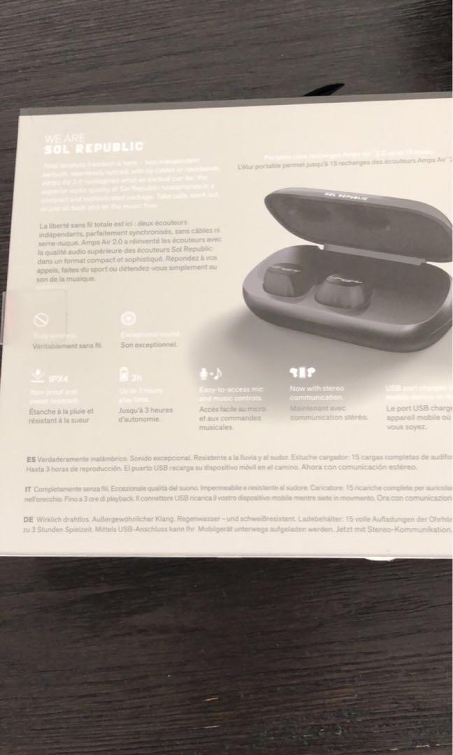 NEW Sol Republic Amps Air 2.0 Bluetooth Headphones