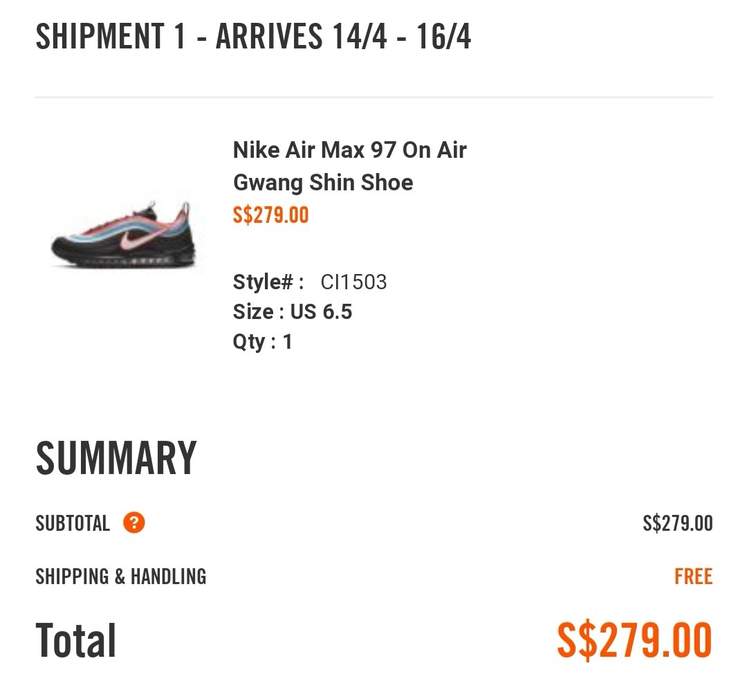 a6b18d149e469 Nike Air Max 97 Neon Seoul, Men's Fashion, Footwear, Sneakers on ...